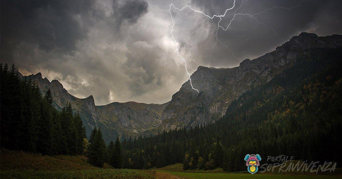 Fulmini in montagna - Tecniche di sopravvivenza