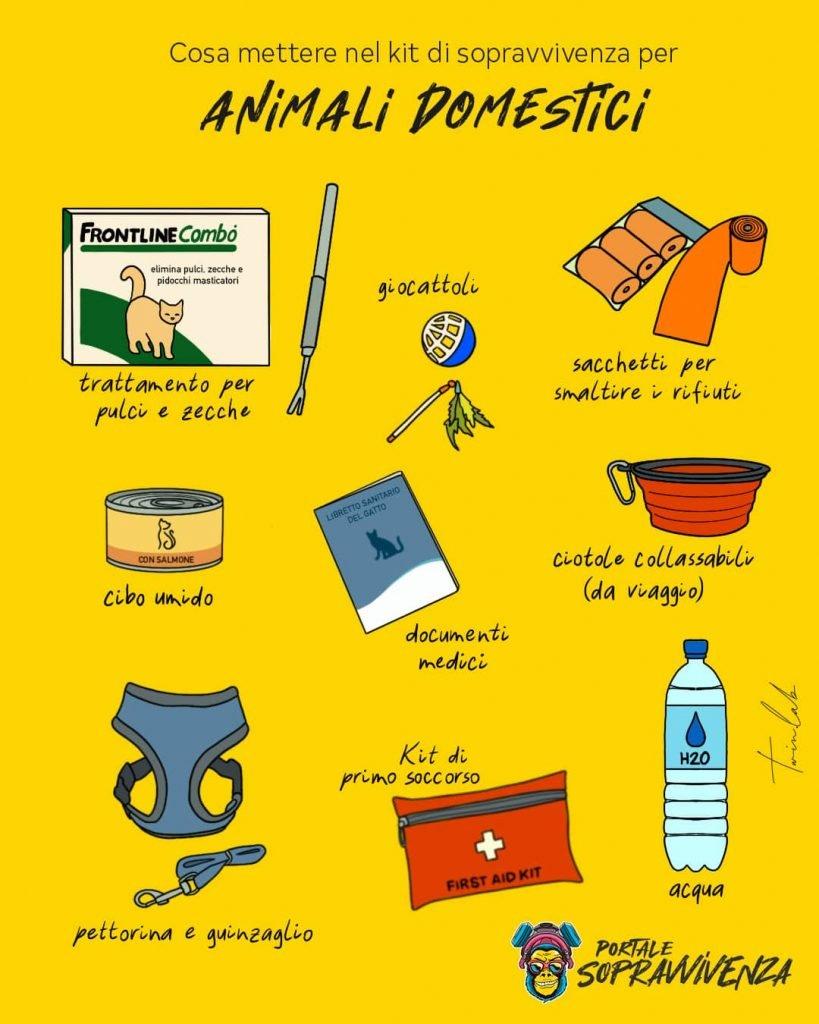 Kit sopravvivenza animali domestici - Kit emergenza gatti